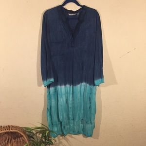 Soft surroundings pull over Tunic ombré tie-dye